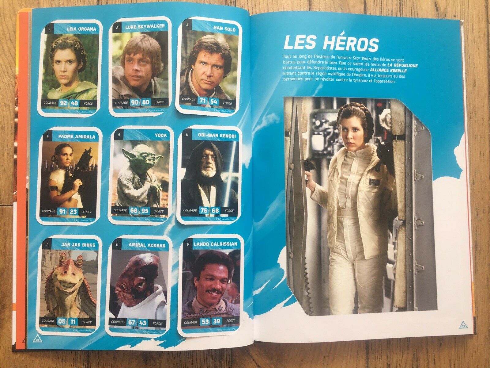 2018 French E • Leclerc Star Wars 90 Cartes Collection Binder Card Set