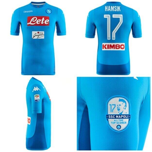 Kappa Napoli Ssc 17 Hamsik Camiseta TG L Shirt All Time Superior Máximo Goleador