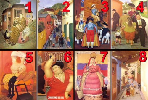 "1 FERNANDO BOTERO 8/""x10/"" QUALITY PHOTO PRINT CHOOSE FROM 96  PICTURE IMAGES"