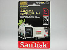Sandisk 64G Micro Extreme 4K SD card for LG G Pad 8.0 F 7.0 10.1 tablet
