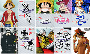 One piece monkey d luffy perona nami trafalgar law ace for Trafalgar law tattoos