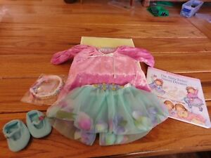 American Girl Bitty Baby Sunny Flowers Dress Shoes Hairband Set NEW Retired Set