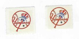 1983-FLEER-BASEBALL-2-STAMPS-NEW-YORK-YANKEES