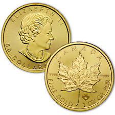 Random Date 1979 - 2016 Canada 1 Troy Oz .9999 Gold Maple Leaf $50 Coin SKU26124