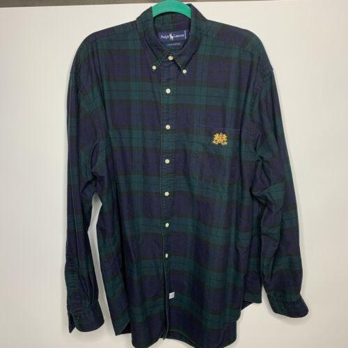 VTG 80's 90's Polo Ralph Lauren SzXL Green Tartan… - image 1