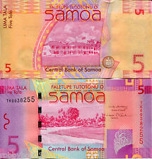 SAMOA 5 Tala Banknote World Paper Money UNC Currency Pick p-38 Bill Note 2008