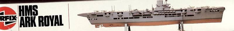 Airflix hms ark royal 1 600 modell, kit.