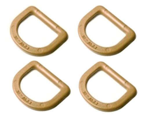 DIY Tactical Plastics 4 x ITW Nexus TAN GhillieTex 25mm D Rings