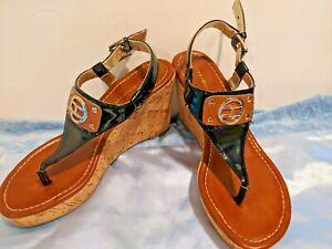 Tommy-Hilfiger-Women-039-s-Wedge-Sandals-Size-6m