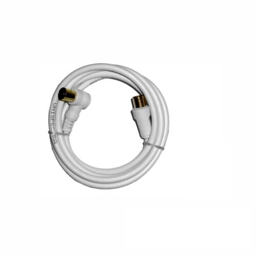 1.5 meter Tv Ariel Cable Lead Extension Cabel Right Angle Male To Male