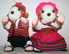"NEW Peruvian Hamster Family Plush Set 13"" Dad (boy) Mom (girl) w/Baby in Sling"