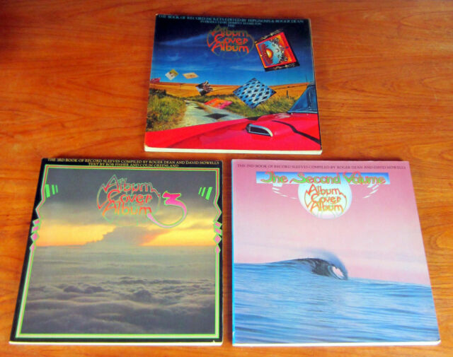 3 books ALBUM RECORD COVER ART PSYCHEDELIC ARTIST Hipgnosis Roger Dean Jazz Punk