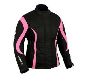 Motorbike Motorcycle Women Pink Cordura Textile Professional Waterproof Jacket