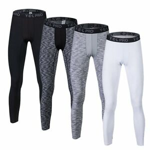 Mens-Gym-Workout-Base-Layers-Football-Tights-Running-Compression-Pants-3-4-Pant