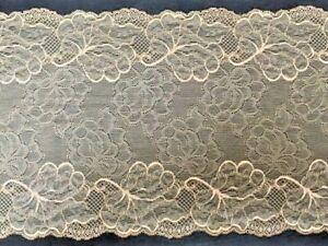 "laverslace Silver Grey Multi Floral Wide Stretch Tulle Lace Trim 7.5/""//17.5 cm"