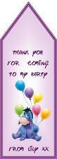 Eeyore Disney Birthday Party Bag Gift Tags Children Boy Girl