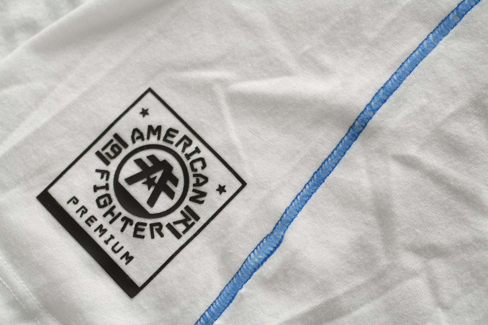 American American American Fighter by Affliction Woman Sweater Macarthur 3 4 Raglan White Grey 1ef2b8