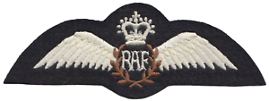 Pilot Wings Royal Air Force RAF MOD Embroidered Patch