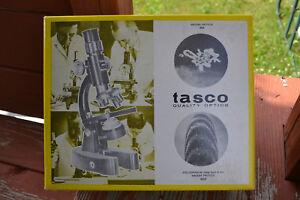 Tasco-Vintage-Deluxe-Zoom-Microscope-Kit-750XKZ-970-5-1966-Incomplete