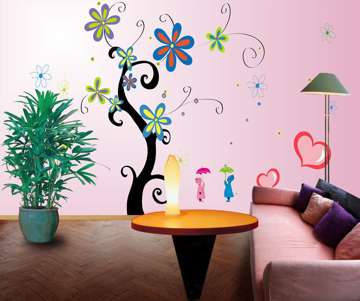 3D Gemalte Blaumen Muster 945 Tapete Wandgemälde Tapeten Bild Familie DE Lemon