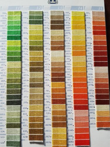 PICK YOUR OWN COLOURS.ALL 447 COLOUR THREADS AVAILABLE 53 GENUINE DMC THREADS