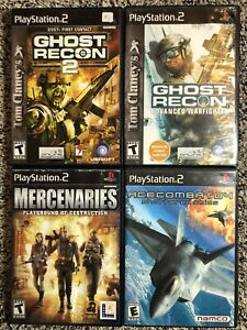Ps2-Game-Lot-Ghost-Recon-Advanced-Warfighter-Ace-Combat-04-Shattered-Skies