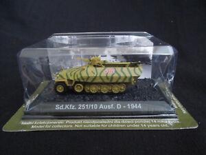 Sd-Kfz-251-10-Ausf-D-Diecast-Amercom-BG-6-1-72-German-APC-1944