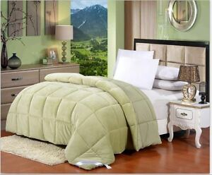luxury down alternative hypoallergenic twin size comforter sage green ebay. Black Bedroom Furniture Sets. Home Design Ideas