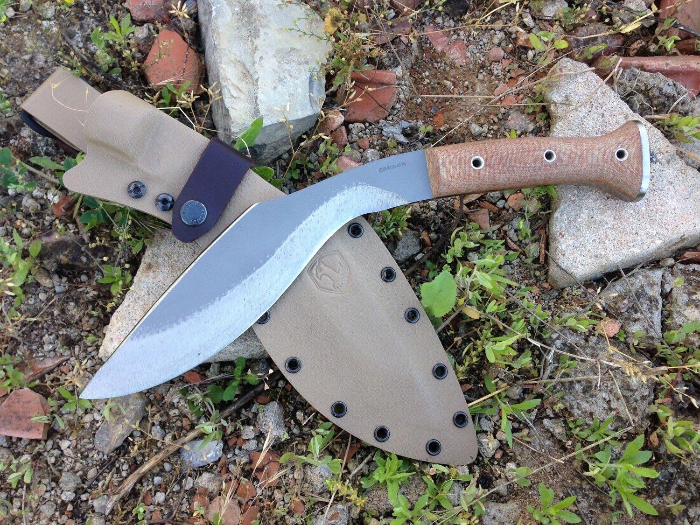 Condor Heavy Duty Kukri Knife Desert MICARTA kydexscheide NUOVA VERSIONE