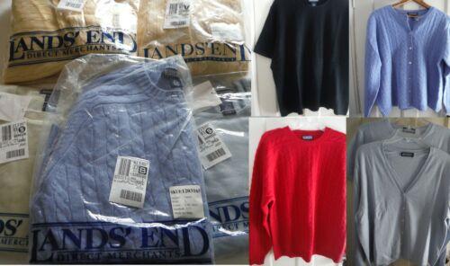 Lands End Women's 100% Cashmere Sweaters Sizes M-X