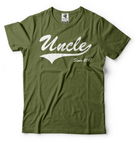 Uncle Since 2017 T-shirt new Uncle Tee shirt Baby Shower Baby Announcement Gift
