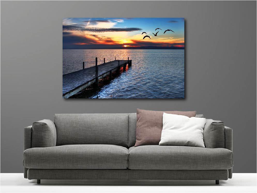 Canvas Paintings Deco Kit Landscape the Sea Ref 56071096