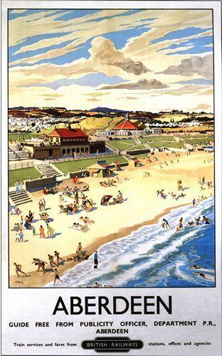 British Railways Aberdeen Railway Poster A3//A2 Print