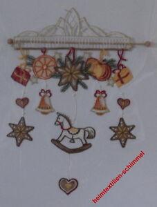 PLAUENER-SPITZE-Windspiel-SCHAUKELPFERD-Fensterbild-KINDER-Weihnachten-PFERD-Neu