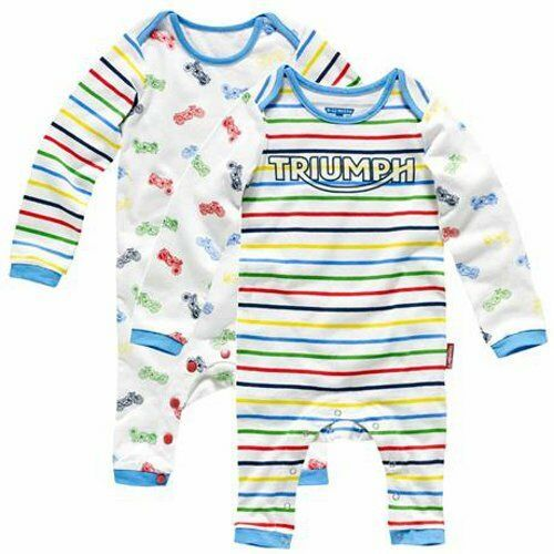 MJSA15029 Triumph Motorcycles Boys Sleepsuit 1-24 months 2 pack