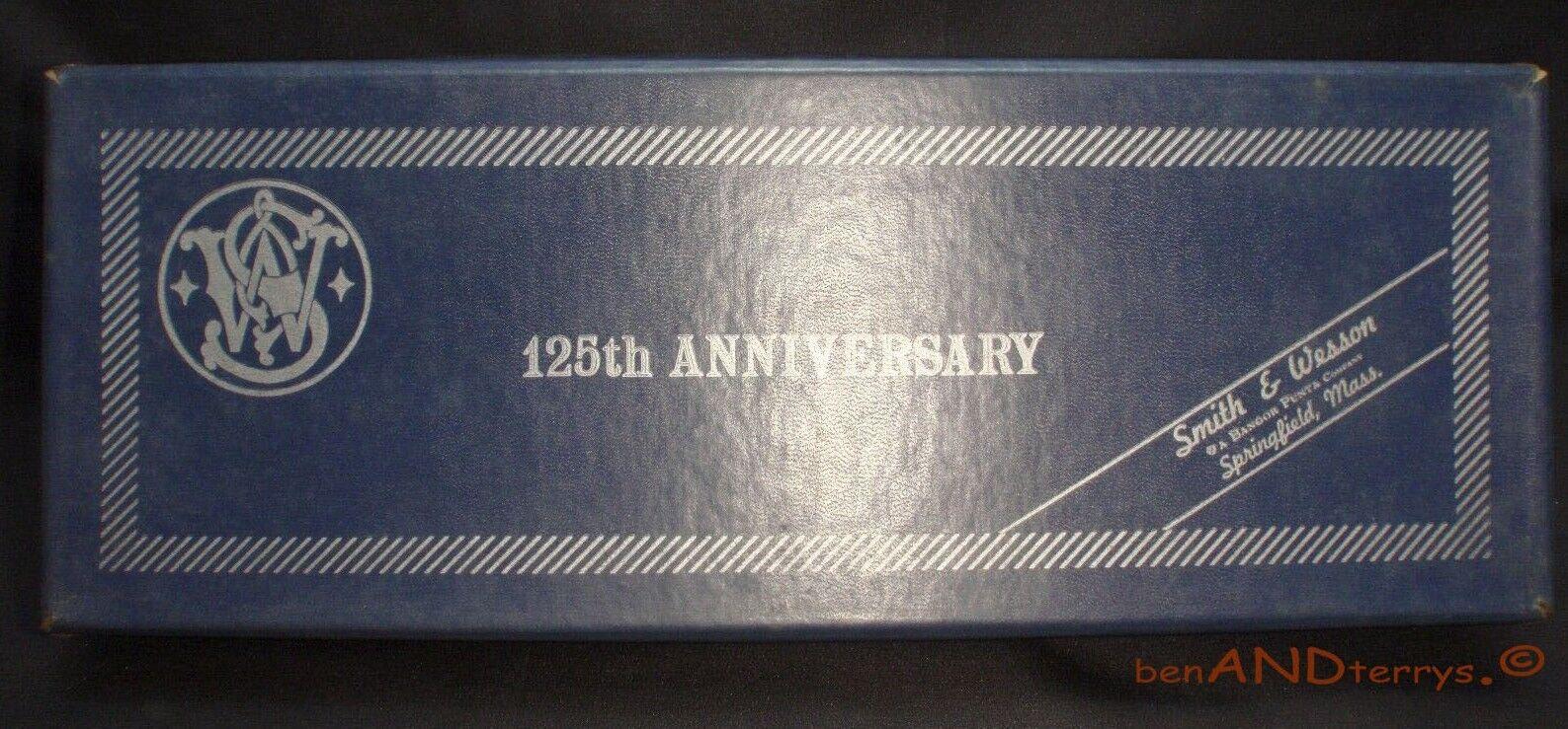 Vintage Wesson 125th aniversario 2 Smith & Piezas Caso Caja vacía