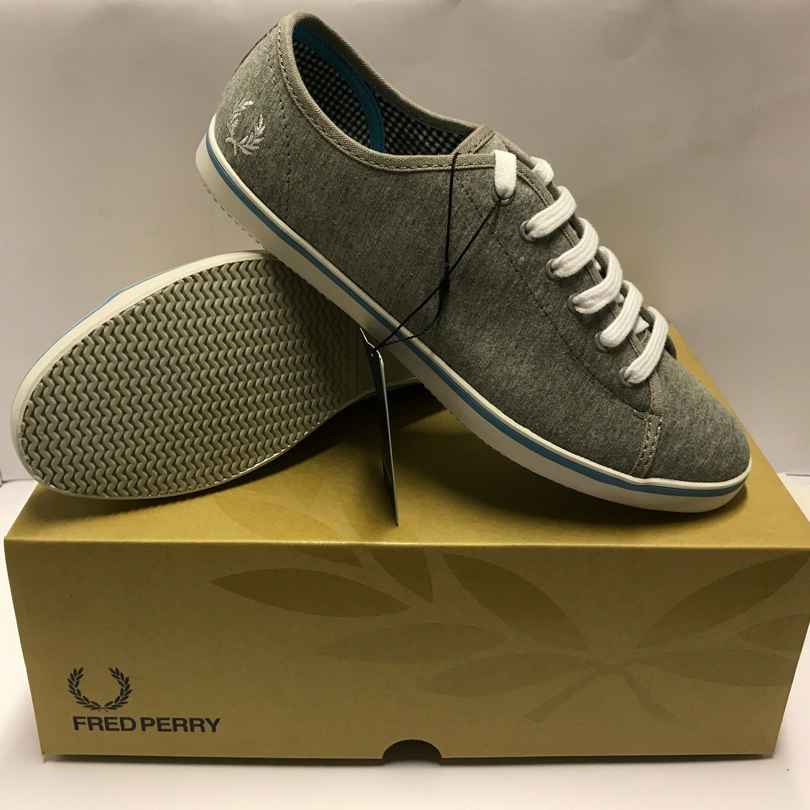 Fred Perry Phoenix Grey Marl Womens Plimsoles Sizes 4,5,6 New