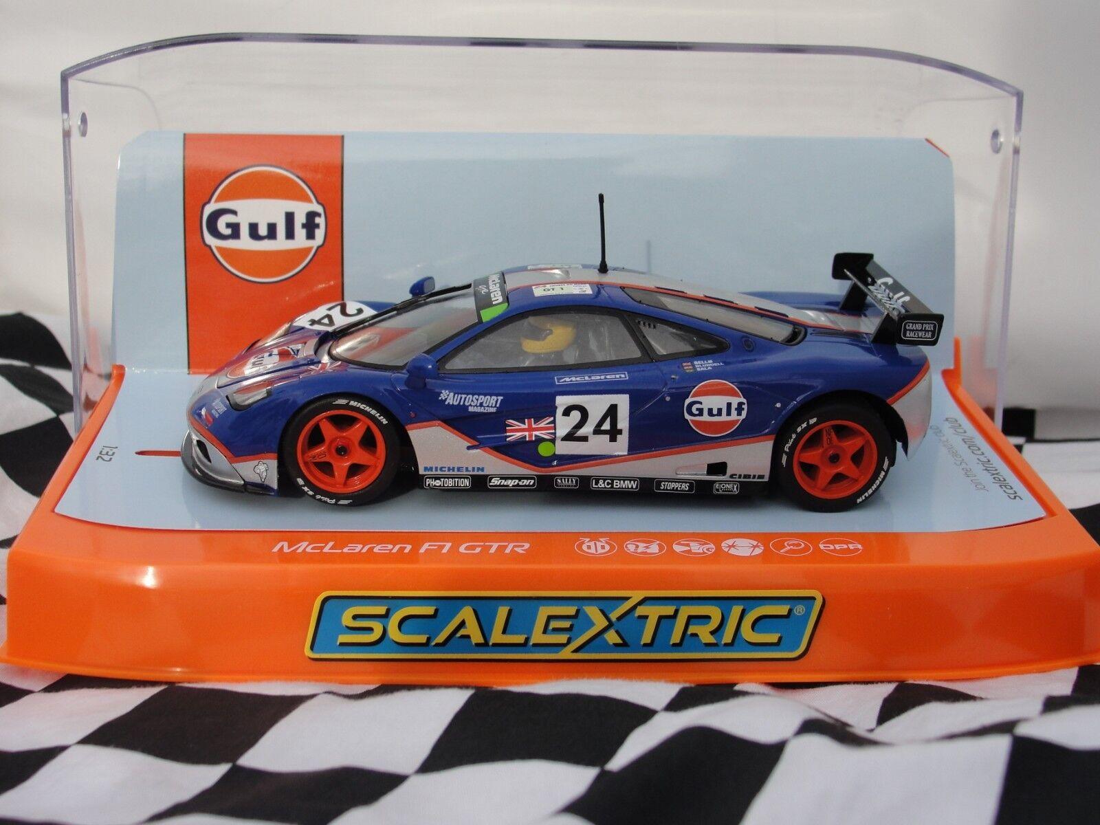 SCALEXTRIC MCLAREN  F1 GTR '24HRS LE MANS 1995'  GULF 1 32 SLOT  C3969 BNIB