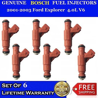 OEM Bosch Fuel Injectors 6X for 1999-2004 Mercury Mountaineer//Ford Explorer 4.0L