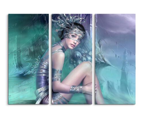 130x90cm Fantasy Girl CG Art Portrait Wandbild auf Leinwand