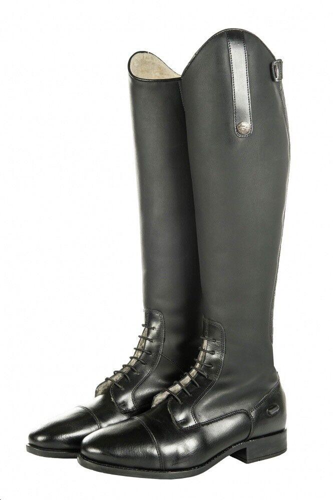 Damen NEU Reitstiefel SEVILLA TEDDY HKM schwarz Langlänge/enge Weite NEU Damen f01468