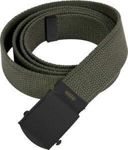 Image is loading Olive-Drab-Military-Cotton-Web-Belt-with-Black- 88a06d24c8e