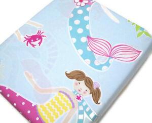 Pottery-Barn-Kids-Organic-Cotton-Multi-Colors-Mermaid-Full-Queen-Duvet-Cover-New