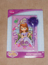 NEW, DISNEY PRINCESS SOFIA THE FIRST DIARY WITH PEN