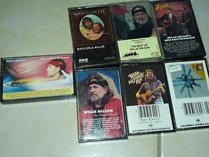 Willie-Nelson-Tape-Cassette-Lot-Of-7