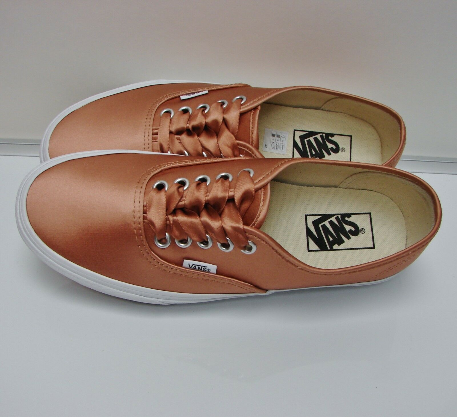 VANS Authentic (Satin Lux) pink True White VN-0A38EMQ9L Women's US  8