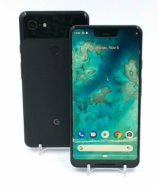 Google Pixel 3 XL - 64GB - Unlocked - Just Black / Not Pink / White- Shadow Burn