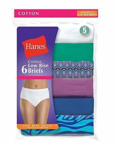 9 6 Pack Hanes Women/'s No Ride Up Low Rise Cotton Panties Briefs Size 5 to