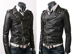 Vintage Biker Belted Rider Fine Quality Slim Fit Leather Jacket ...