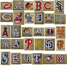 b7118f439bf MLB Baseball Decal Stickers Team Logos Complete Set of All 30 Teams ...